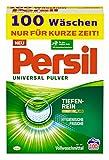 Persil Universal Pulver, Vollwaschmittel, 100 Waschladungen, mit Tiefenrein-Plus Technologie und langanhaltendem Frische-Effekt, wirksam bei Temperaturen von 20°C - 95°C