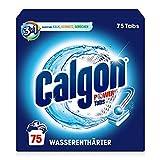 Calgon 3-in-1 Power Tabs – Wasserenthärter gegen Kalkablagerungen und Schmutz in der Waschmaschine – Beugt unangenehmen Gerüchen vor – 1 x 75 Tabs
